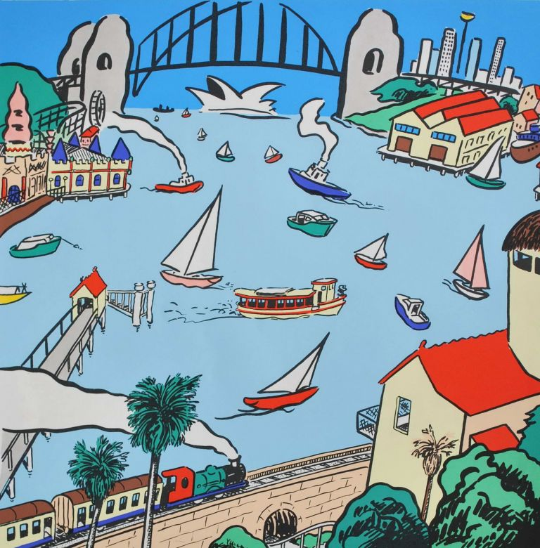 Sailor's Dream [Lavender Bay, NSW]. Peter Kingston, b.1943 Aust.