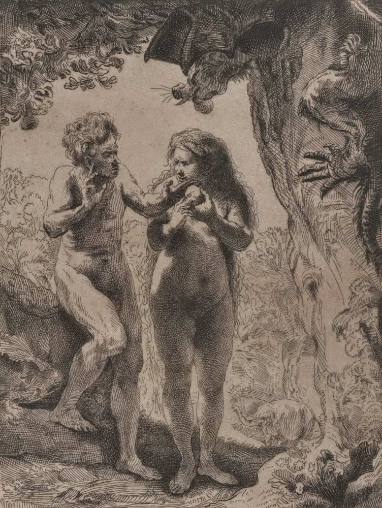 Adam And Eve. Rembrandt, Dutch.