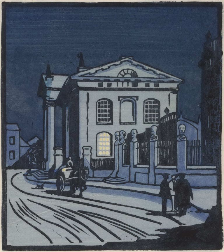 [The Sheldonian Theatre, Oxford]. Aubrey K. Moore, active 1920s-30s British.