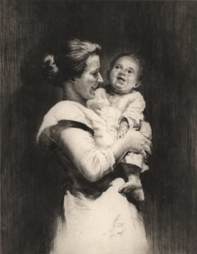 Mother And Child. Sidney Tushingham, Brit.