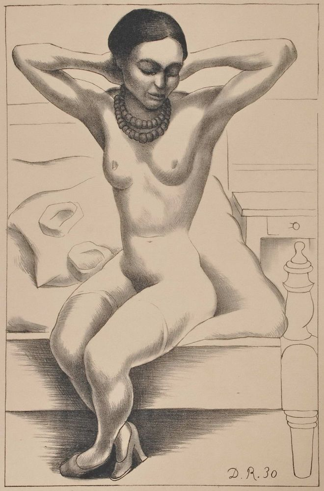 Nude With Beads (Frida Kahlo). Diego Rivera, Mexican.