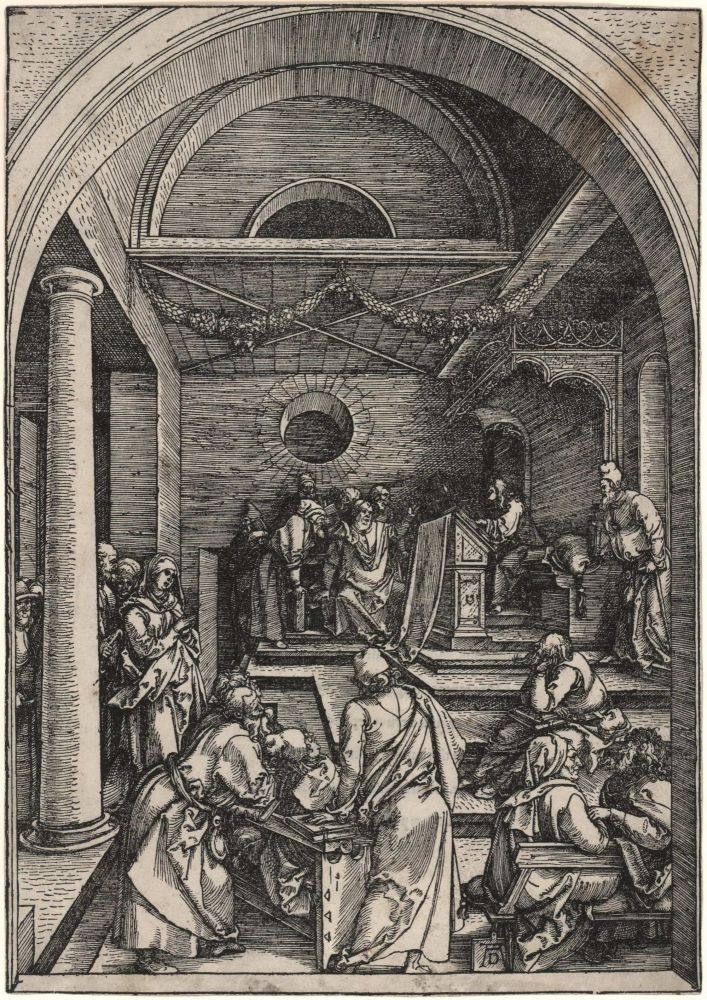Christ Among The Doctors. Albrecht Dürer, German.