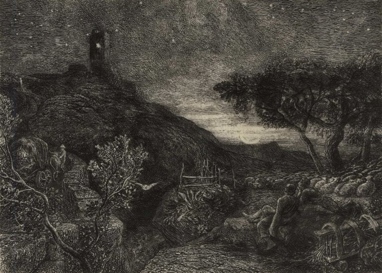 The Lonely Tower. Samuel Palmer, Brit.