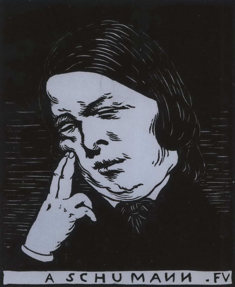 À Schumann (To Schumann). Félix Vallotton, Swiss/French.