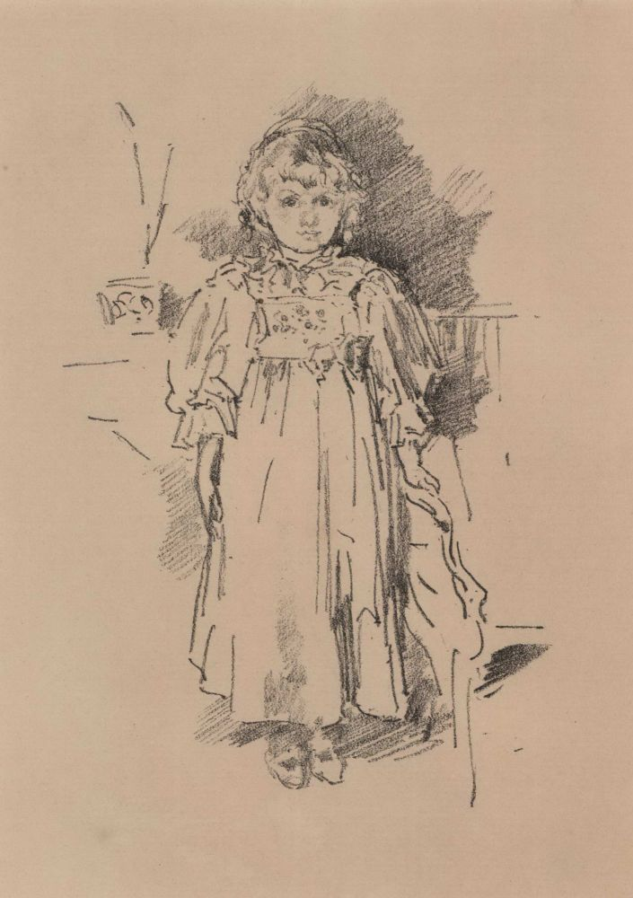 Little Evelyn. James McNeill Whistler, Amer./Brit.