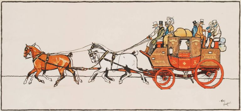 [Stagecoach]. After Cecil Aldin, Brit.