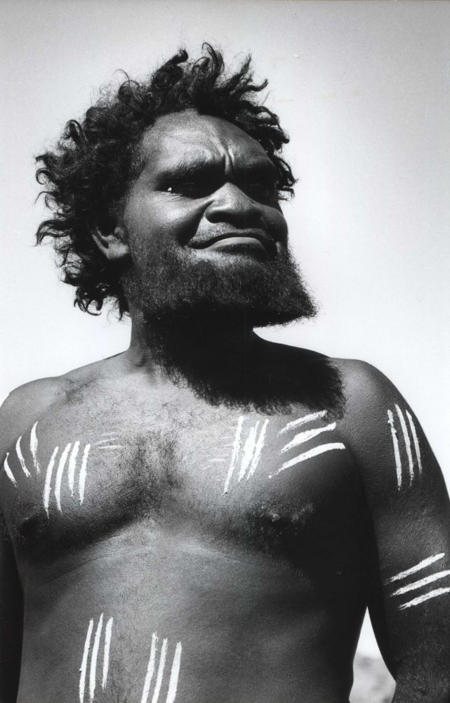 Aborigine Decorated For Corroboree, Ernabella, South Australia. David Moore, Aust.