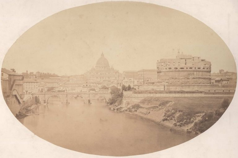 The Castle And Bridge Of Saint Angelo, With The Vatican In The Distance, Vatican City [Italy]. Robert Macpherson, Brit.