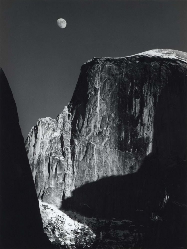 Moon And Half Dome, Yosemite National Park, California. Ansel Adams, American.