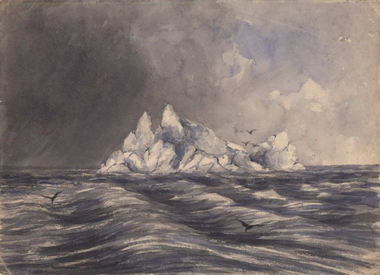 "Sketch Of An Iceberg Seen From The Ship ""Seringapatam"""