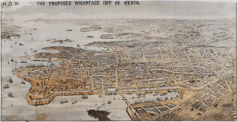 The Proposed Wharfage Improvements, [Sydney] NSW.  After  A. C. Cooke, Aust.