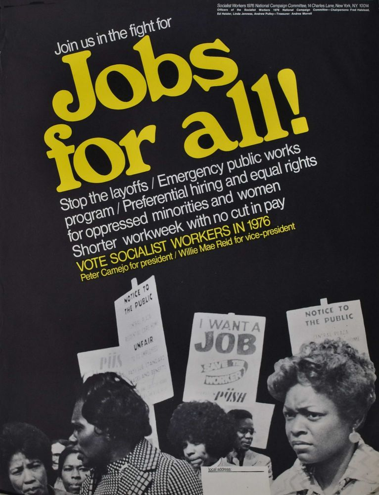 Join Us In The Fight For Jobs For All!