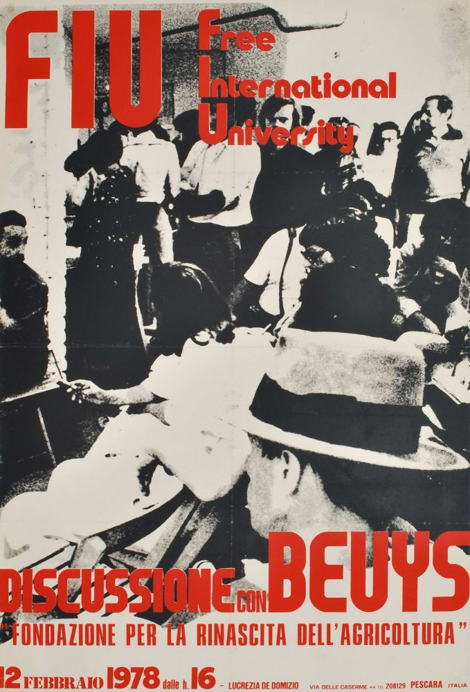 Discussione Con Beuys. Free International University. Joseph Beuys, German.