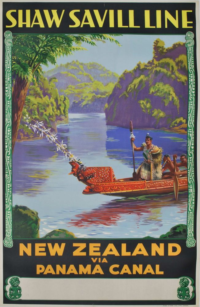 New Zealand Via Panama Canal. Shaw Savill Line