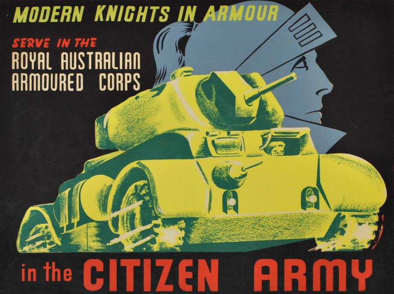 Modern Knights In Armour In The Citizen Army. Serve In The Royal Australian Armoured Corps