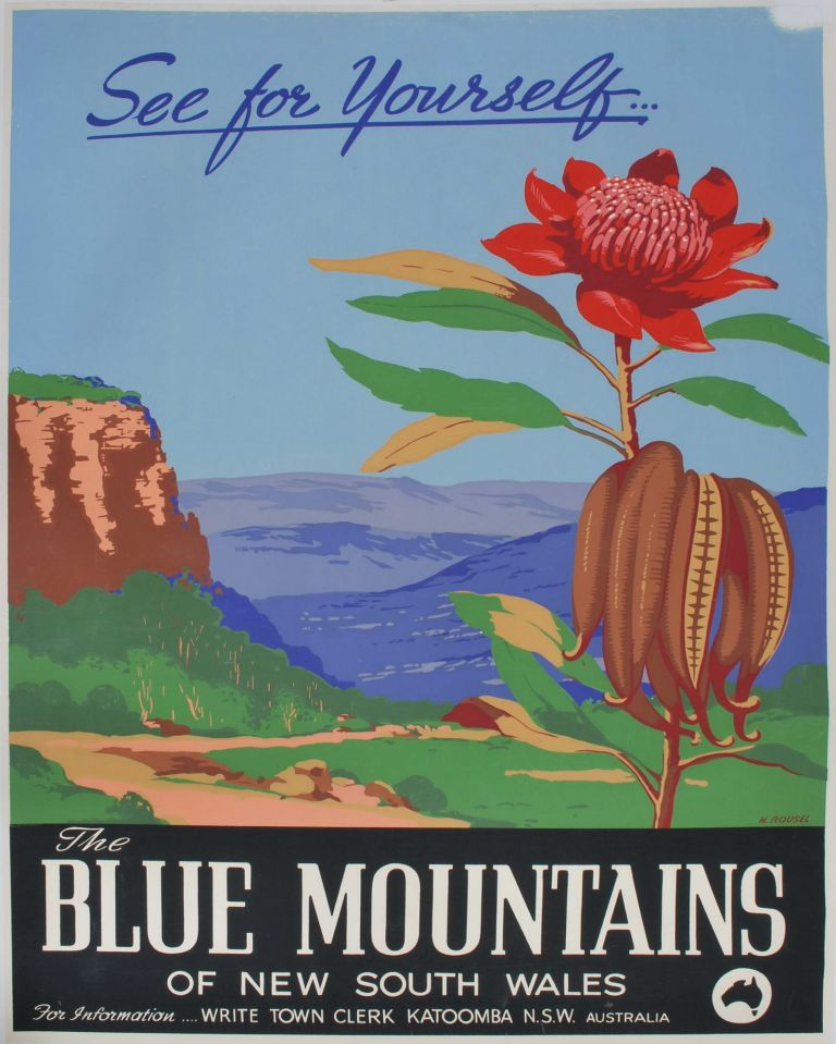 The Blue Mountains Of New South Wales. See For Yourself. Henry Rousel, Australian.