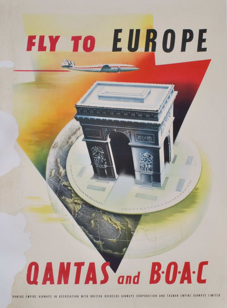 Fly To Europe. Qantas And BOAC [Arc De Triomphe]