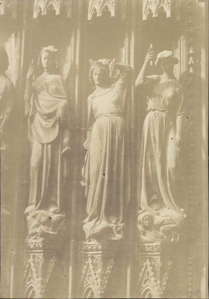 [Three Virtues, Notre Dame Cathedral, Strasbourg, France]. Henri Le Secq, French.