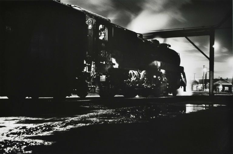 Broadmeadow, NSW [Locomotive At Night]. Charles Page, b.1946 Aust.