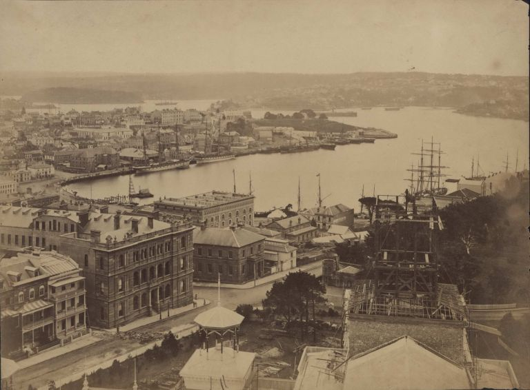 Circular Quay From Garden Palace [Detail From Panorama of Sydney]. Charles Bayliss, Aust.