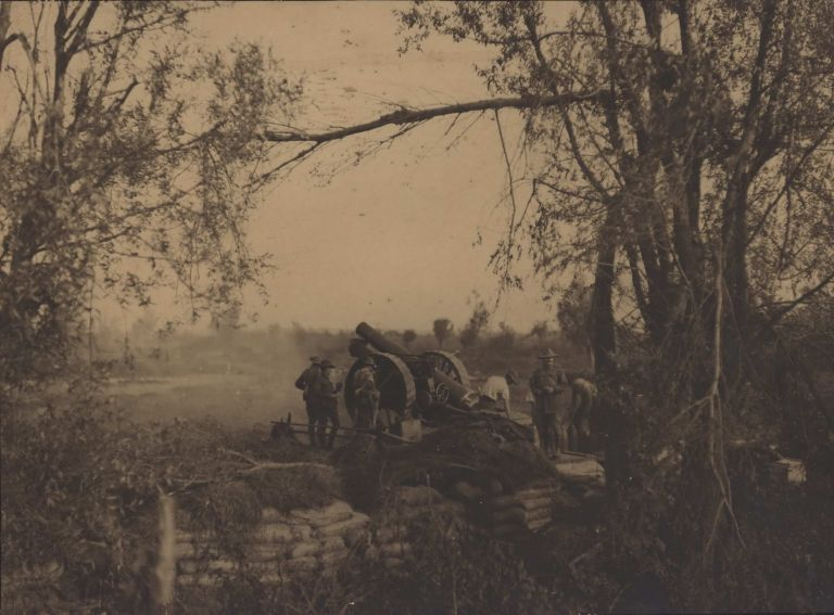 An 8-Inch Howitzer Of The 1st Aust. Siege Battery…In Action At Voormezeele [Belgium]