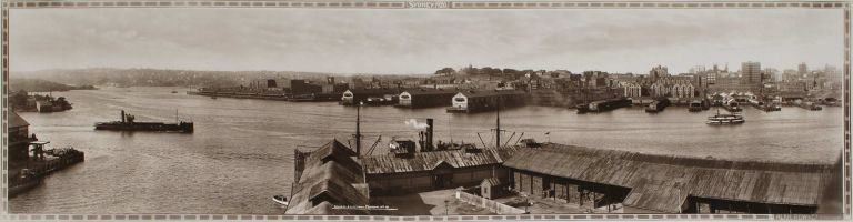 Sydney. Wharfs And City From Pyrmont, No. 16. active 1910s-1920s Aust., Alan Row, Co.