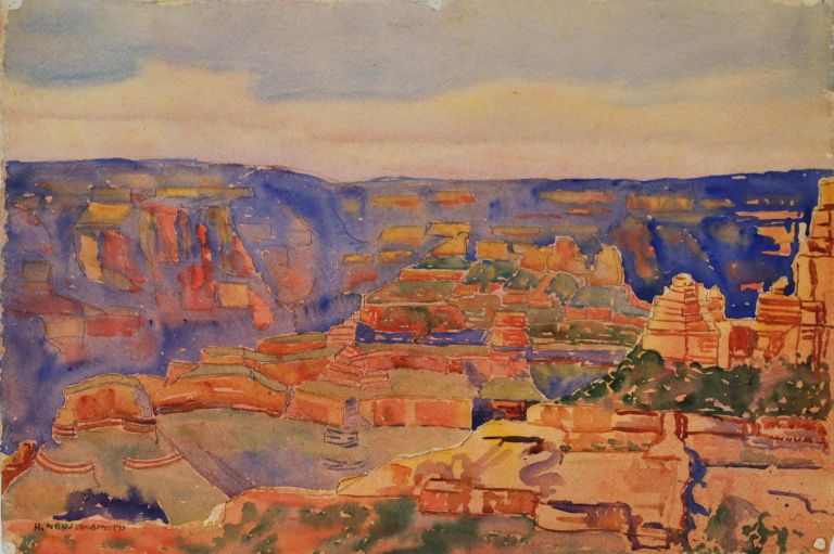 Grand Canyon [Arizona, US]. H. Nevill-Smith, active 1930s-1950s Australian.