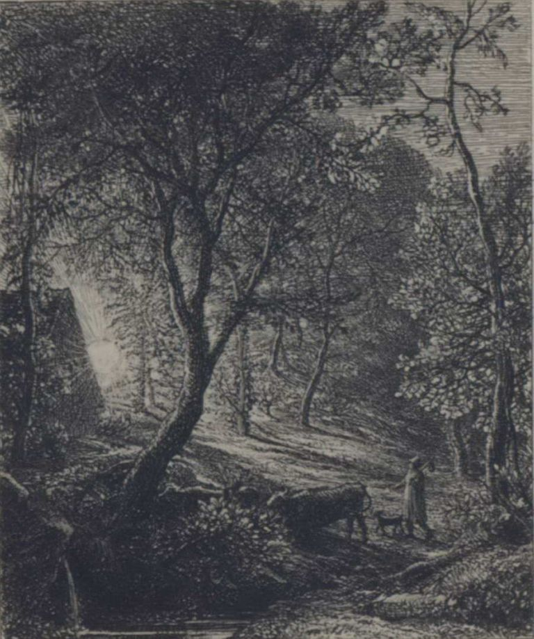 The Herdsman's Cottage. Samuel Palmer, Brit.