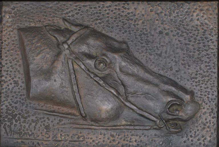 Bronze Head Of A Racehorse. John Wrenn Sutton, Aust.
