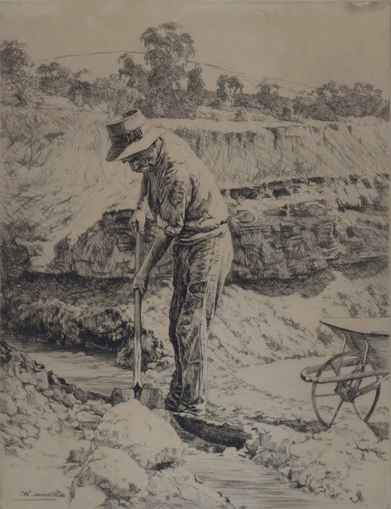The Prospector [Gold-mining]. Alfred Edward Warner, Ernest, Aust.