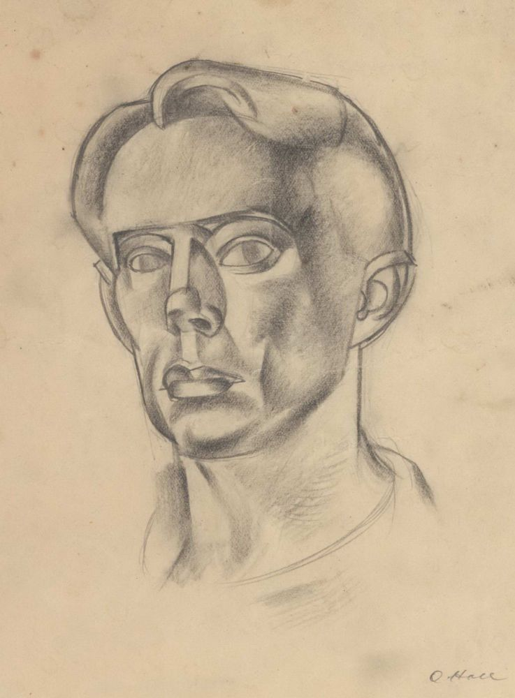 [Self-portrait]. Oswald Hall, Aust.