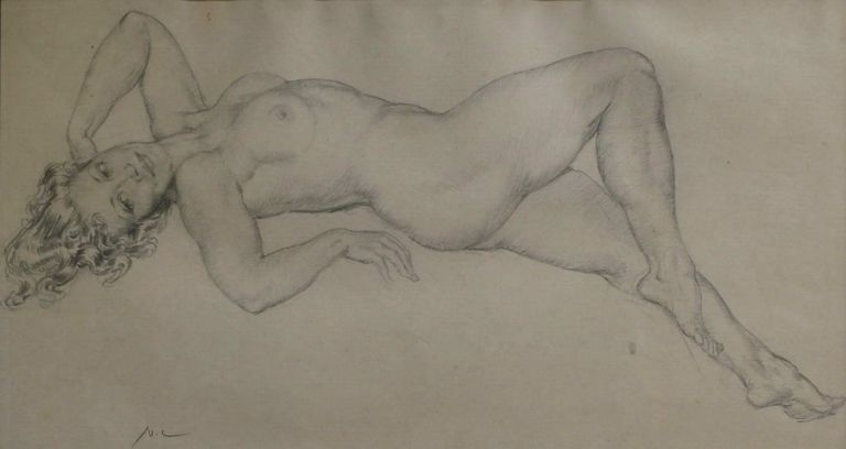 [Reclining Nude]. Norman Lindsay, Aust.