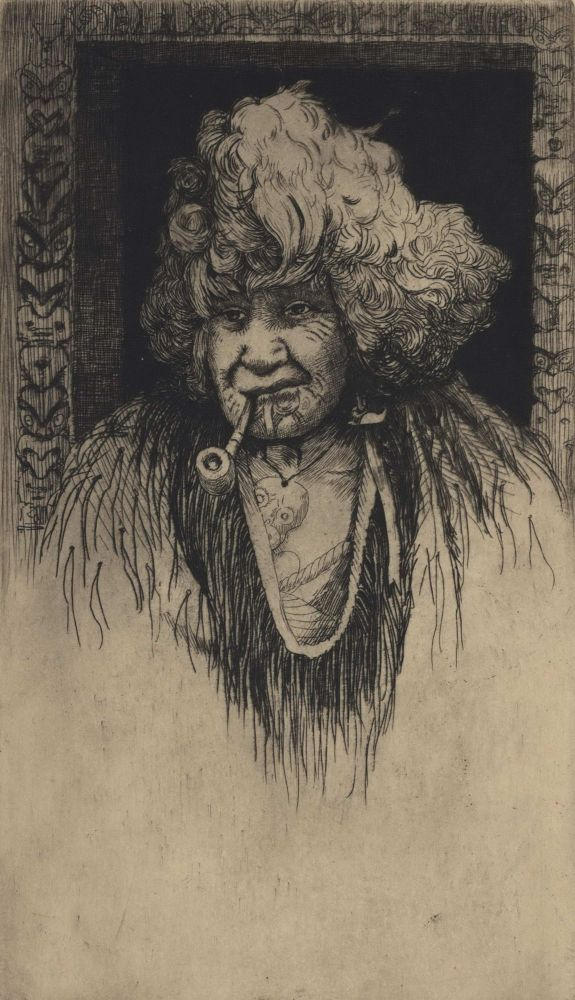 [Portrait Of A Maori Woman Smoking A Pipe]. Trevor Lloyd, New Zealand.