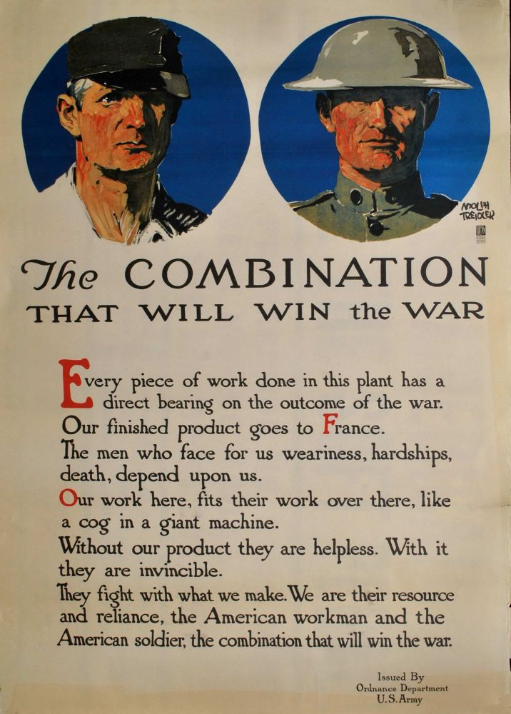 The Combination That Will Win The War. Adolph Treidler, American.