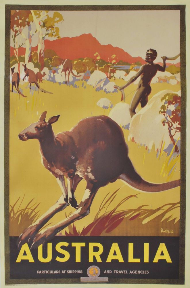 Australia [Hunting Kangaroos]. James Northfield, Aust.