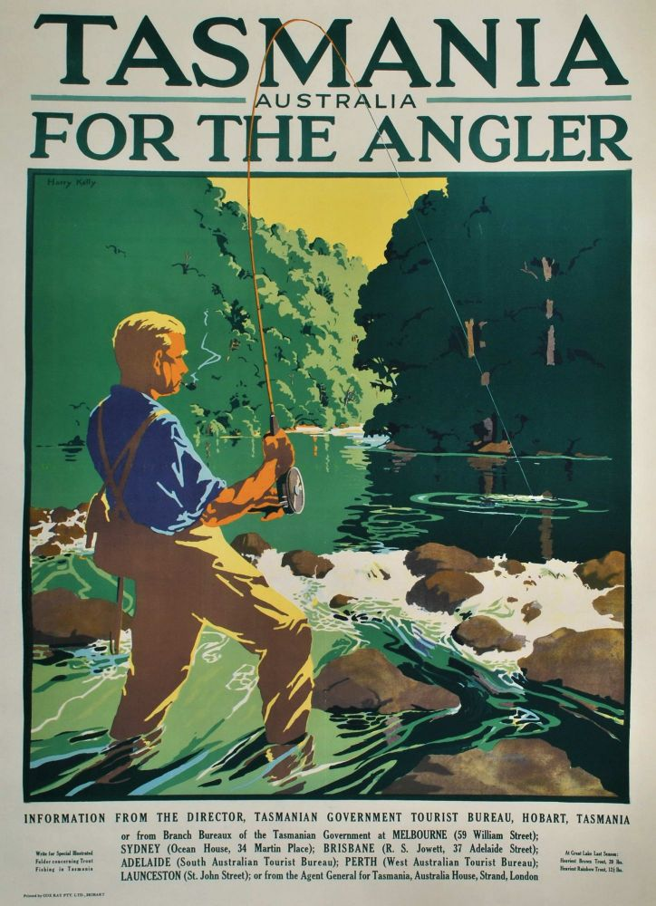 Tasmania, Australia, For The Angler. Harry Kelly, Aust.