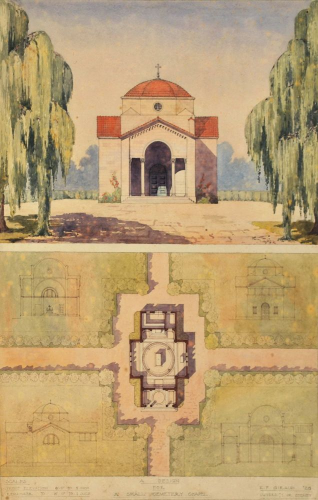Design For A Small Cemetery Chapel and A Design For [Aviator Bert] Hinkler's Memorial