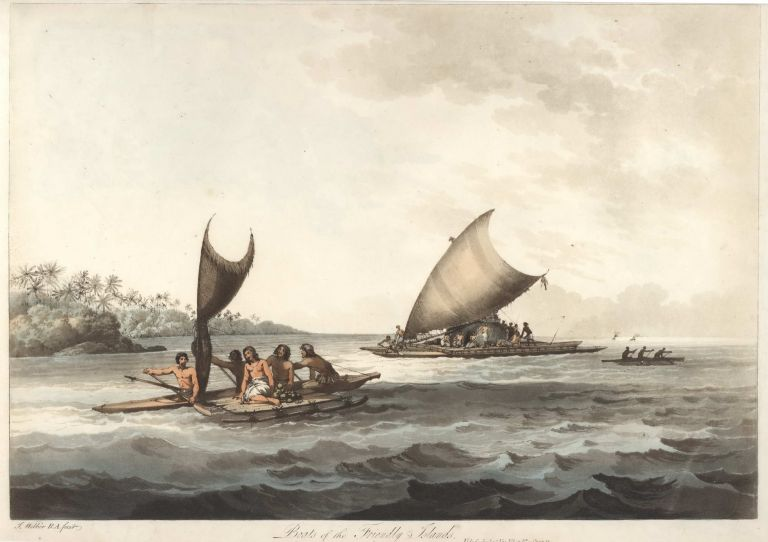 Boats Of The Friendly Islands. After John Webber, British.