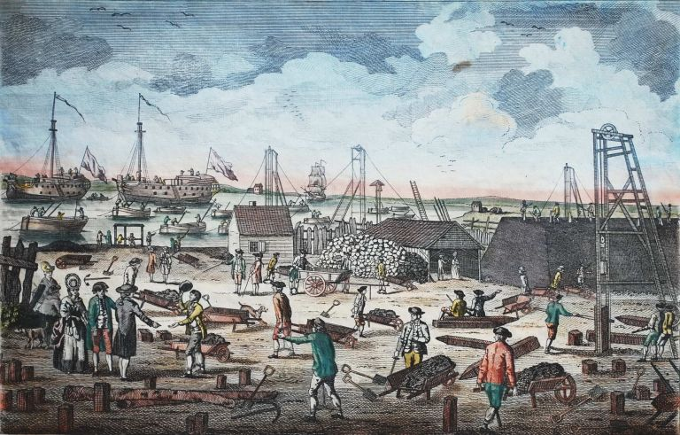 A View Near Woolwich In Kent, Shewing The Employment Of The Convicts From The Hulks