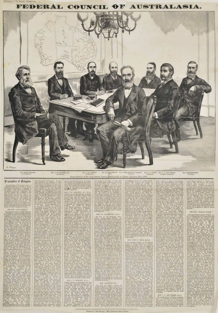 Federal Council Of Australasia. After J. Macfarlane, British.