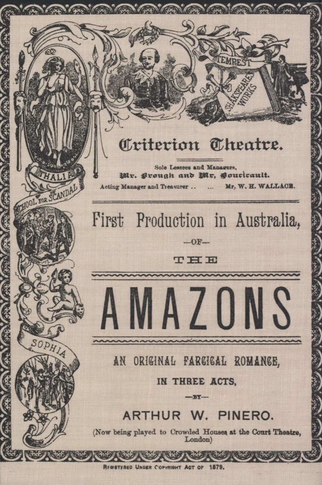 """First Production In Australia Of """"The Amazons"""""""