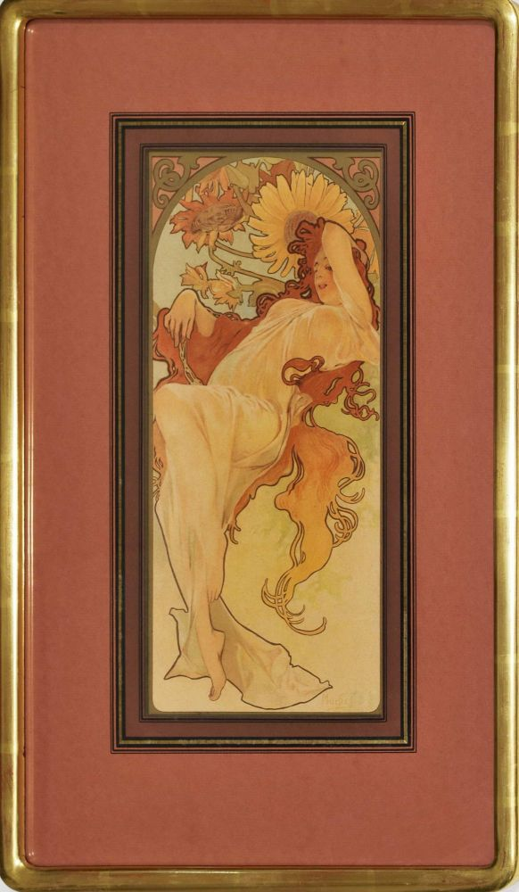 Chocolat Masson/Chocolat Mexicain [The Four Seasons]. Alphonse Mucha, Czech.