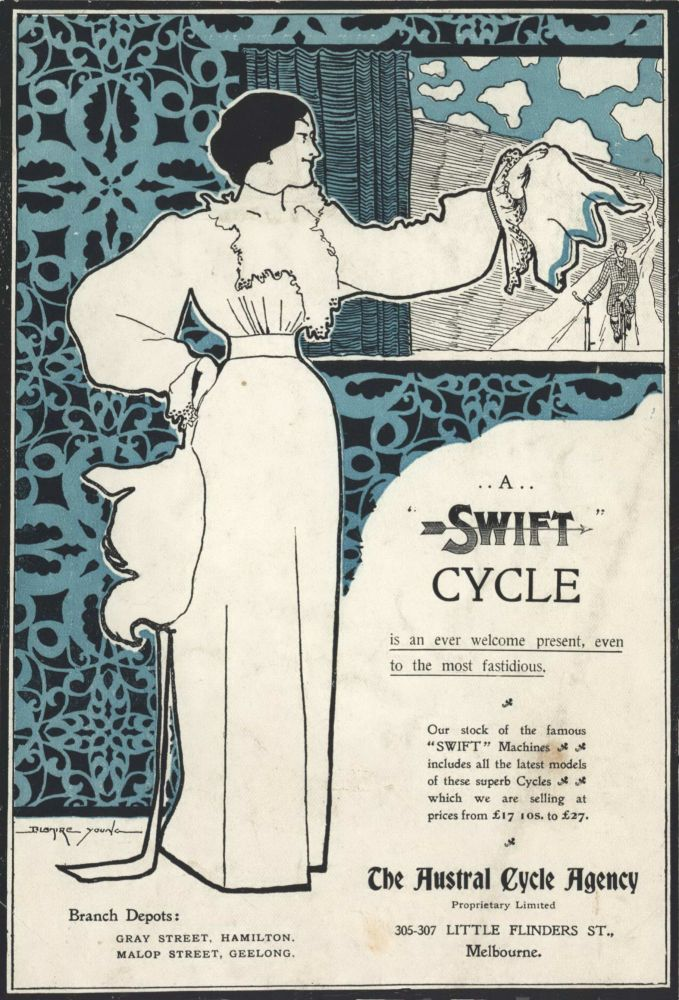A Swift Cycle [Bicycle Advertisement]. Blamire Young, Brit./Aust.