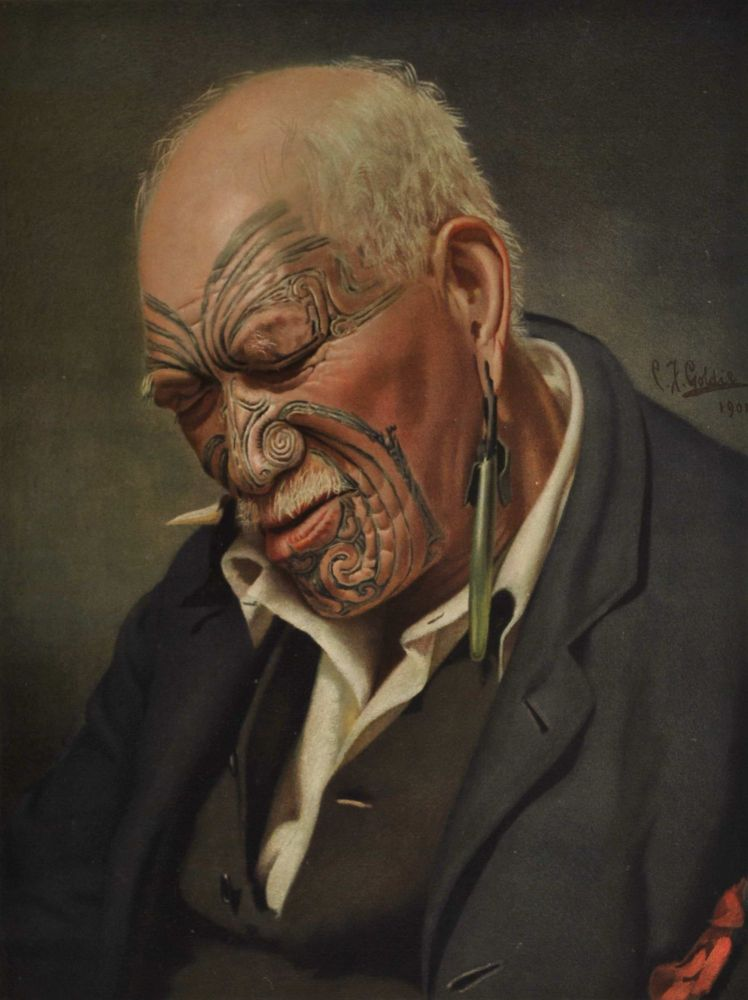 A Warm Day [Maori Man]. After C. F. Goldie, NZ.