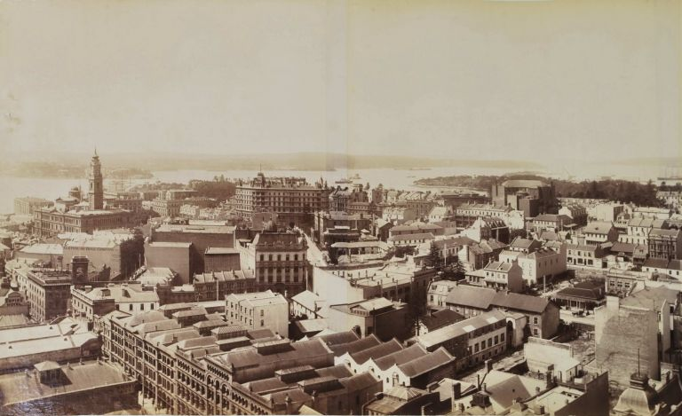 Panorama Of Sydney Looking East From Tower Of General Post Office. Government Printer, est. 1842 Aust.
