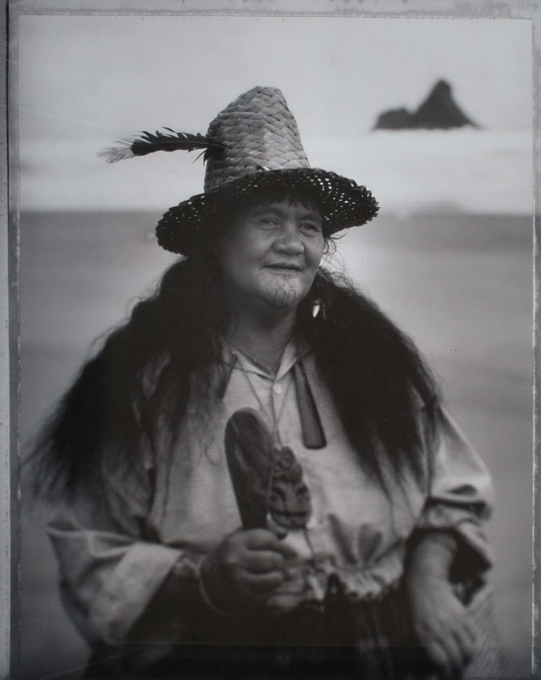 Maori Woman With Hat. Grant Matthews, b.1952 Australian.