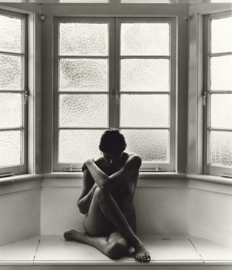 [Female Nude In Bay Window]. Charles Page, b.1946 Aust.