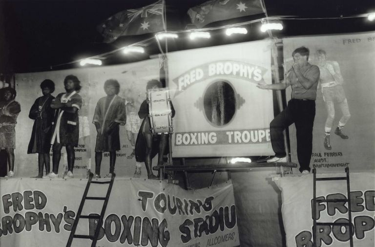 [Fred Brophy's Boxing Troupe, Birdsville, Qld]. Charles Page, b.1946 Aust.