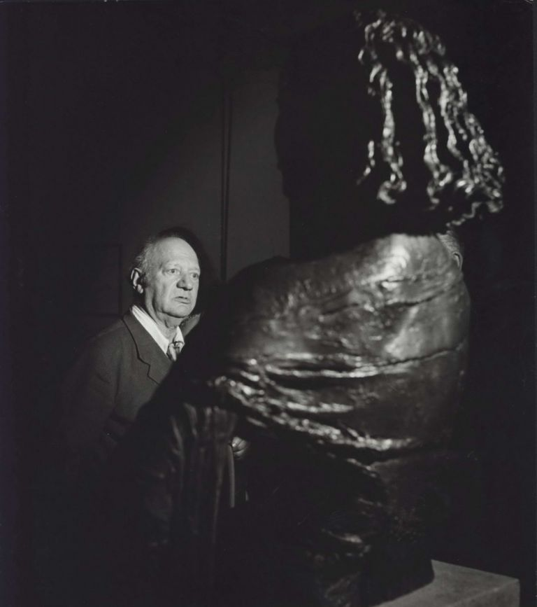Sir Jacob Epstein With Bust Of His Wife. David Potts, 1926–2012 Aust.