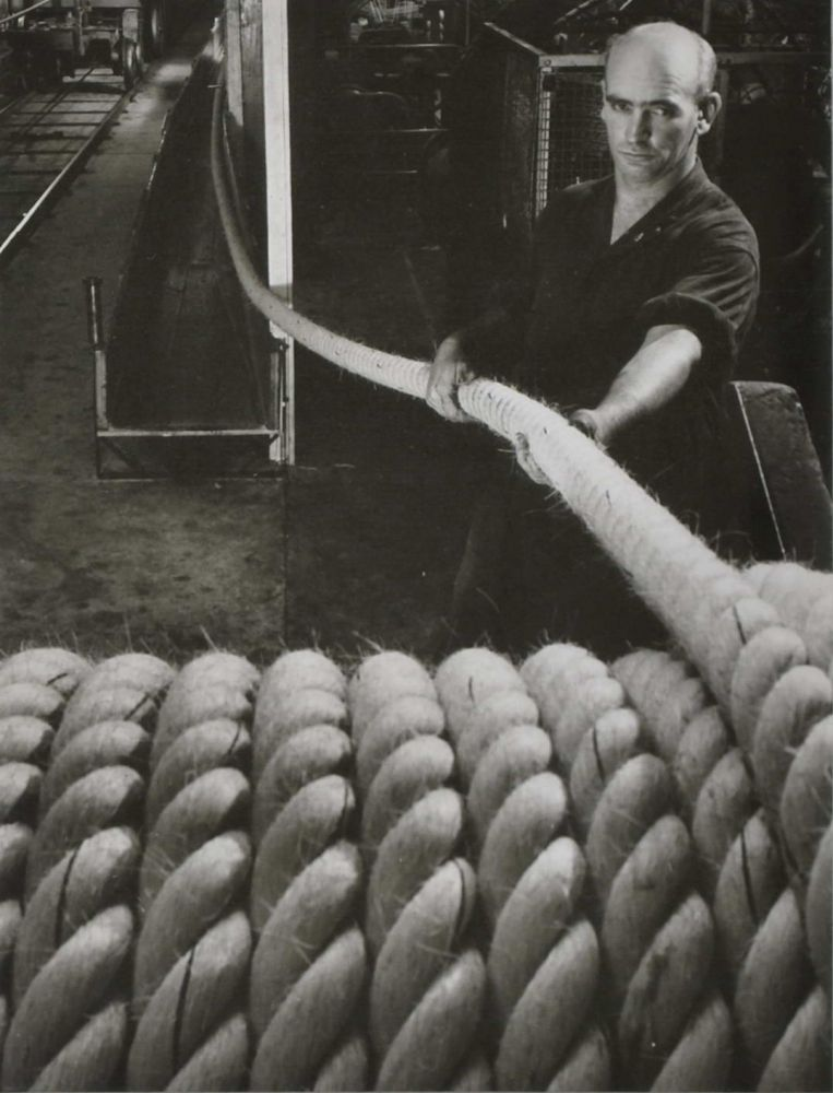 Ropemaking, Miller Rope Factory, Melbourne. Wolfgang Sievers, 1913–2007 German/Aust.